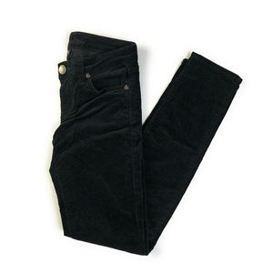 Kut From The Kloth Diana Black Skinny Cords Size 0
